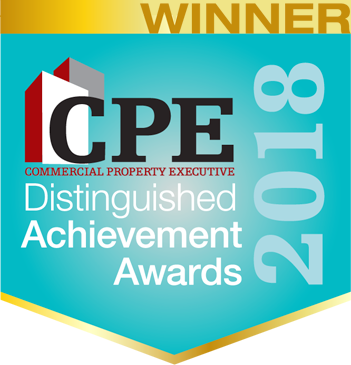 Winner of the Commercial Property Executive's Distinguished Achievement Award for 2018